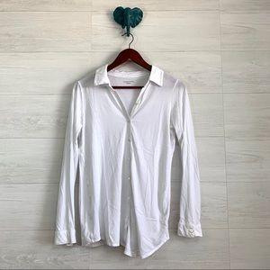 Eileen Fisher Button Down Organic Cotton Blouse